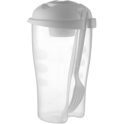 Image of Salad shaker with cup and fork
