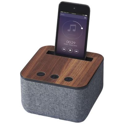 Image of Shae Fabric and Wood Bluetooth®  Speaker