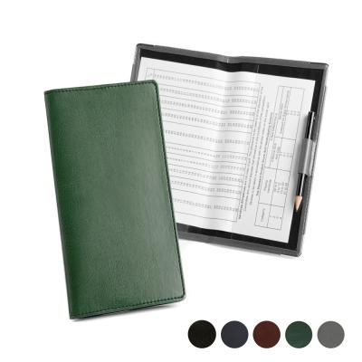 Image of Leather Golf Score Card Holder with Handicap Card